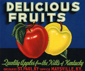 Delicious Fruits Fruit Crate Label