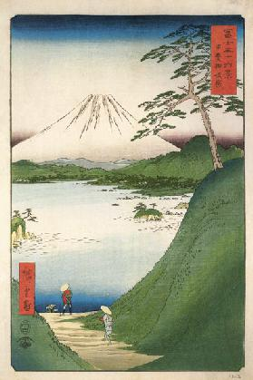 "Misaka Pass in Kai Province (From the series ""Thirty-Six Views of Mount Fuji"")"