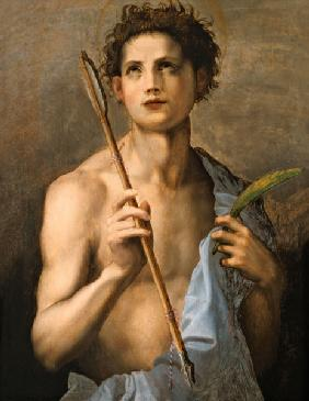St. Sebastian Holding Two Arrows and the Martyr's Palm