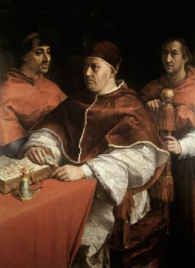 Pope Leo X with Two Cardinals, after a painting by Raphael (Raffaello Sanzio of Urbino) (1483-1520)