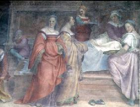 Bed Scene, from the Birth of the Virgin