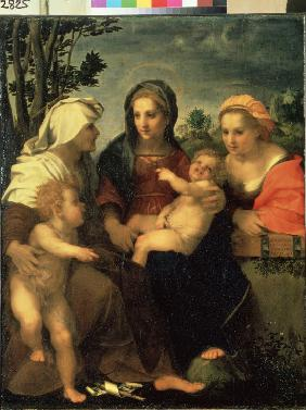 Virgin and Child with Saints Catherine, Elisabeth and John the Baptist