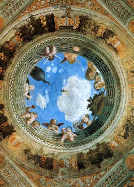 Camera degli sposi ceiling fresko pal andrea mantegna for La camera degli sposi di andrea mantegna