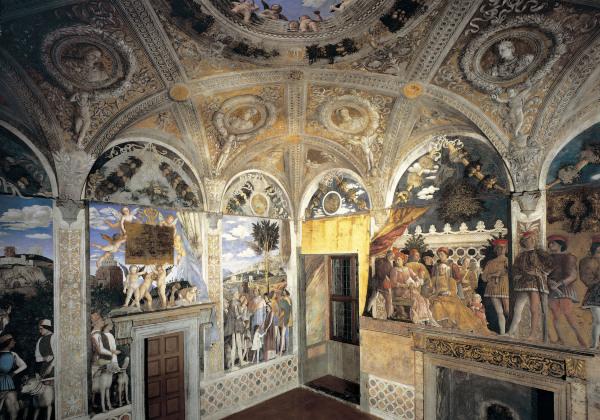 Camera degli sposi frescos andrea mantegna for Mantova la camera degli sposi