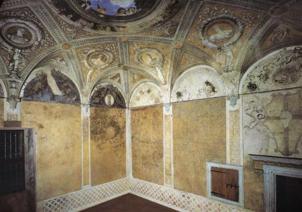 Camera degli sposi frescos andrea mantegna riproduzione for Mantegna camera sposi