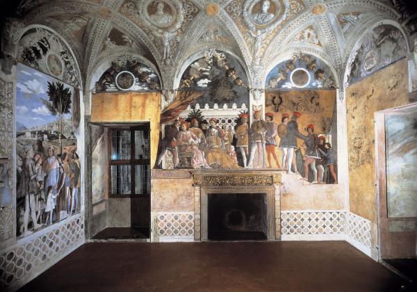 Camera degli sposi north wall andrea mantegna for Camera sposi mantegna
