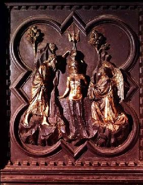 The Baptism of Christ, panel from the south doors of the Baptistry depicting scenes from the life of