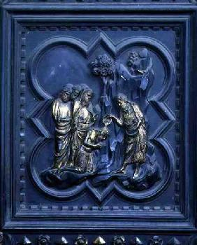 The Baptism of the Disciples, ninth panel of the South Doors of the Baptistery of San Giovanni