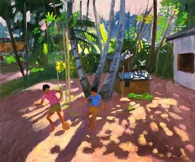 Football, Bentota, Sri Lanka, 1998 (oil on canvas)