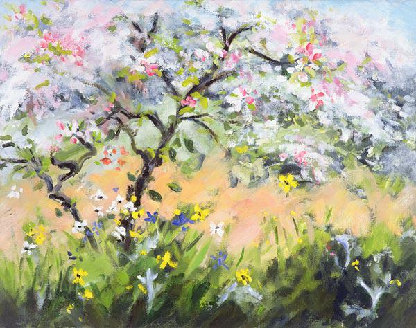 Spring Blossom (oil on canvas)