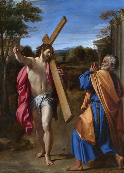 Christ appearing to Saint Peter on the Appian Way (Domine, Quo Vadis?)