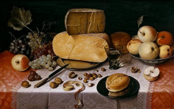 Natura morta con formaggio e frutta - Stampe di quadri e ...