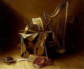 Quiet life with musical instruments