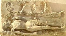 The Decaying Corpse, fragment from the tomb of Cardinal Jean de La Grange (fl.1358-d.1402) from the