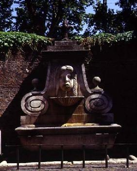 The garden on Via Giuliadetail of a fountain