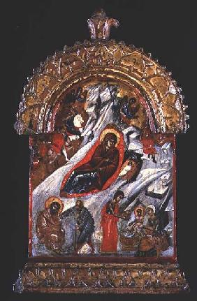 Greek icon of the Nativity