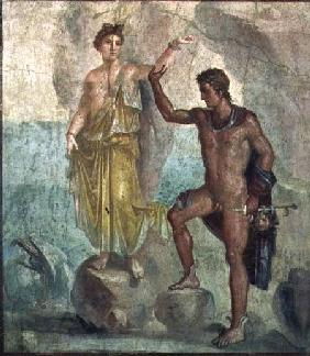 Perseus freeing Andromeda, from the House of Castor and Pollux, Pompeii