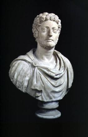 Portrait bust of Emperor Lucius Aurelius Commodus (161-92) copy of a Roman original