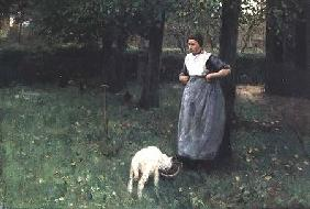 Larener Woman with a Goat