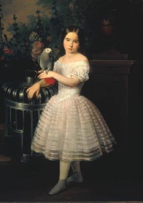 Portait of Rafaela Flores Calderón as a child