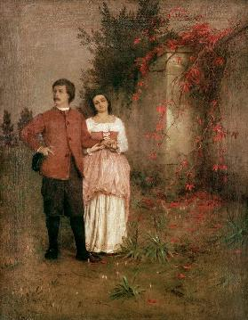 Boecklin Self-Portrait w.wife