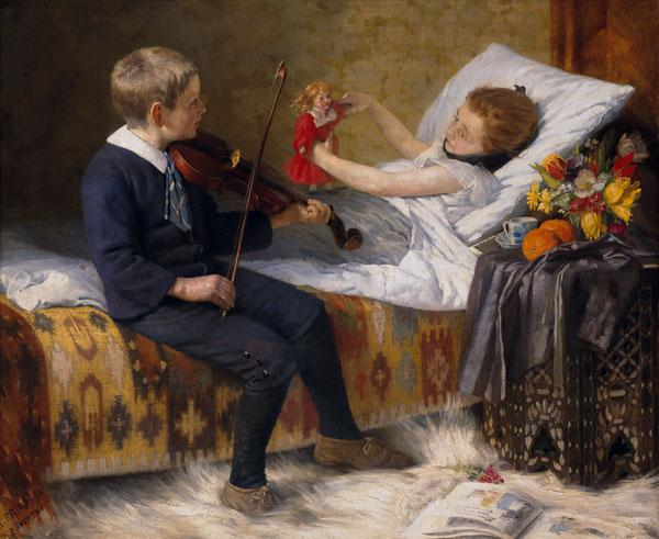 The serenade at the sickbed.