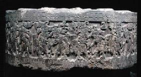 The Stone of Tizoc (c.1481-86) or Temalacatl