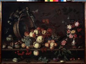 Still Life with Fruits, Flowers and Parrots