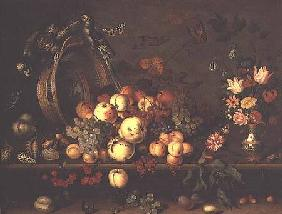 Still Life with Fruit, Flowers and Parrots