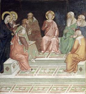 Jesus with the Doctors, from a series of Scenes of the New Testament (fresco)