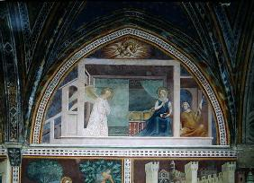 The Annunciation, from a series of Scenes of the New Testament (fresco)