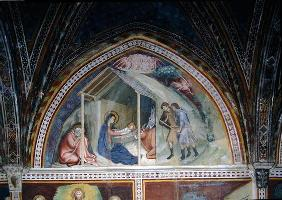 The Birth of Christ, from a series of Scenes of the New Testament (fresco)
