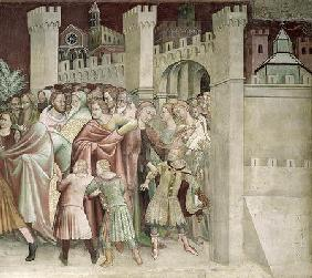 The Crowd at the Entrance to Jerusalem, from a series of Scenes of the New Testament (fresco)