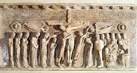 Relief panel depicting the Deposition, 1178 (marble)