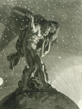 Atlas Supports the Heavens on his Shoulders, 1731 (engraving)