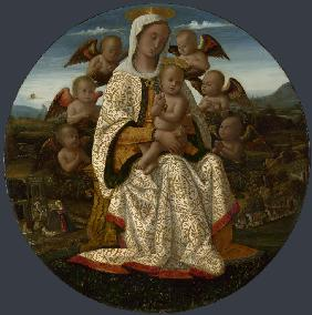 The Virgin and Child with Cherubs