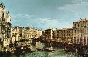 Grand Canal, Venice, looking South to the Rialto Bridge