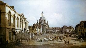 The new market to Dresden, seen by the Jüdenhofe