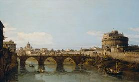 View of the Tiber in Rome with the Castel Sant'Angelo