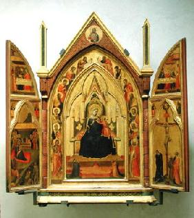 Madonna and Child with Saints (tempera on panel)