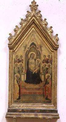 Madonna and Child Enthroned with SS. Peter and Paul and Angels (tempera on panel)