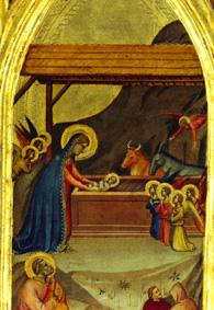 The birth Christi. Part from the wing of a triptych