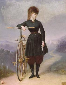 Blanche d'Antigny (1840-74) and her Velocipede
