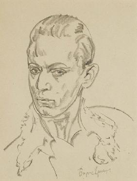Portrait of the ballet dancer and choreographer Sergey Lifar (1905-1986)