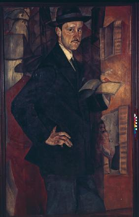 Portrait of the artist Mstislav Dobuzhinsky (1875-1957)