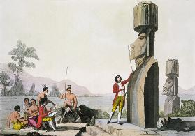 Island Monument, from Captain Cook's visit to Easter Island