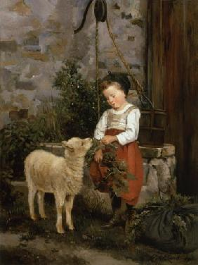 The favourite lamb. 1877