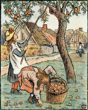 Gathering Apples, from 'Travaux des Champs'
