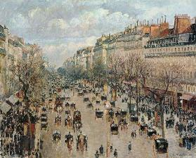 The boulevard Montmartre in Paris. 1893
