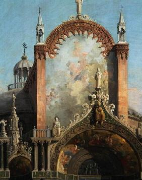 Detail of Capriccio of a Church (oil on canvas)